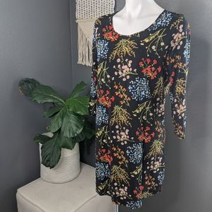 Black Floral Charming Charlie Dress